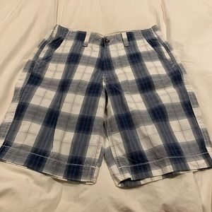 AE plaid shorts